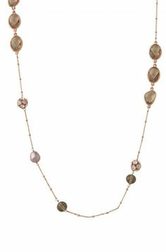 Anabelle Necklace - delicate and beautiful layering necklace.  Perfect with the Goddess Teardrop Earrings and the Rhea Bangles.