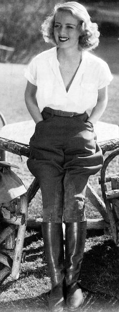 Bette Davis. Loving these pants! Where can I get a pair? cg.