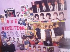 """Fan wall! """"this is my bedroom, and all about 1D"""""""
