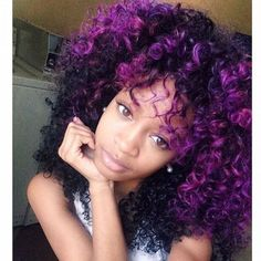 Purple hair is one of the hottest trends! Here are 10 ways to have FABULOUS purple hair! (protective hairstyles for natural hair articles) Purple Natural Hair, Pelo Natural, Hair Color Purple, Curly Purple Hair, Curly Fro, Dyed Natural Hair, Purple Haze, Natural Curls, My Hairstyle