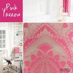 pantone pink yarrow, hot pink, bright pink, fuchsia, 2017 color trends, color trends, color for interiors