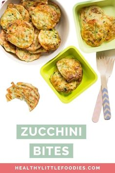 These zucchini bites (courgette bites) are a great snack for babies, toddlers and kids. Made with oats, zucchini and cheese Vegetarian Finger Food, Vegetarian Meals For Kids, Healthy Toddler Meals, Kids Meals, Vegetarian Recipes, Healthy Recipes, Healthy Food, Meal Plan For Toddlers, Hidden Vegetable Recipes