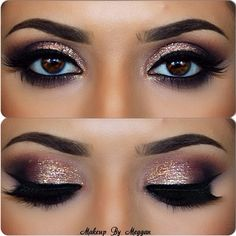Smokey Eye Make-up - MakeUp Inspiration & Brands - Eye-Makeup Blue Eye Makeup, Love Makeup, Smokey Eye Makeup, Skin Makeup, Makeup Inspo, Makeup Inspiration, Amazing Makeup, Makeup Brushes, Winged Eyeliner