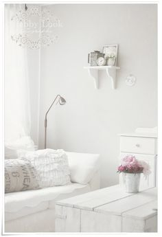 Country cottage sitting room. #white