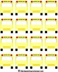 School bus printables - link to one sheet of black and white school busses (colour link does not work)