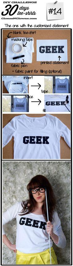 declaración de bricolaje camiseta