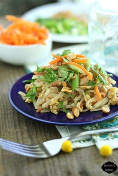 Chicken Pad Thai {Family Friendly}
