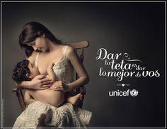 La artista Natalia Oreiro, Embajadora de UNICEF para el Río de la Plata, tiene un mensaje para ti en esta imagen con su hijo Merlin.  ¡Súmate a la campaña #DarTetaDarLoMejor, y comparte!  Via UNICEF Argentina y UNICEF Uruguay