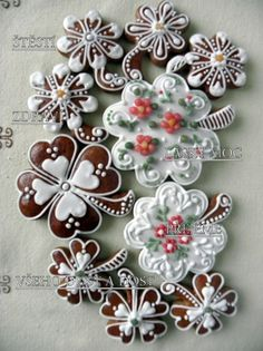 Biscotti Cookies, Cute Cookies, Royal Icing, Cookie Bars, Cookie Decorating, Gingerbread, Biscuits, Holiday, Christmas