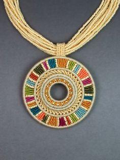 Joan Babcock Designs – Fiber art and jewelry Collar Macrame, Macrame Colar, Macrame Earrings, Macrame Jewelry, Diy Earrings, Wire Jewelry, Jewelry Art, Jewlery, Artisan Jewelry