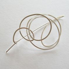 Squiggle Brooch | Contemporary Brooches by contemporary jewellery designer Dot Sim