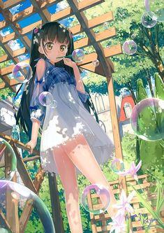 Kai Fine Art is an art website, shows painting and illustration works all over the world. Anime Girl Neko, Cool Anime Girl, Chica Anime Manga, Pretty Anime Girl, Thicc Anime, Cute Anime Pics, Beautiful Anime Girl, Anime Art Girl, Anime Girls