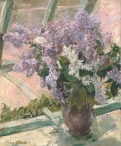 Lilacs in a Window (Vase de Lilas a la Fenetre)Artist: Mary Cassatt (American, Pittsburgh, Pennsylvania Le Mesnil-Théribus, Oise)Date: ca. AmericanMedium: Oil on canvasDimensions: 24 x 20 in. x cm)Classification: Paintings Mary Cassatt, Renoir, Art Floral, Floral Wall, Floral Style, Yennefer Of Vengerberg, American Impressionism, Oil Painting Reproductions, American Artists