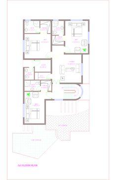 floor plan of 1 kanal house