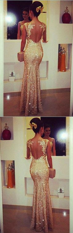 sparkly champagne sequin mermaid prom dresses 2018 lace appliques evening gowns with illusion back