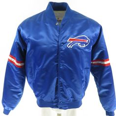 48fad9b38 Vintage 80s Buffalo Bills Starter Satin Jacket Mens XL Proline NFL Football