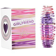 Celebrity Fragrances Justin Bieber Girlfriend 3.4oz Eau de Parfum ($27) ❤ liked on Polyvore featuring beauty products, fragrance, perfume, makeup, accessories, neutral, pink flower perfume, flower fragrance, pink fragrance and flower perfume