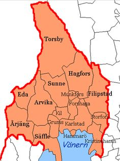 Map Of Varmland Sweden Including Karlstad A Lot Of My Family - Sweden map varmland