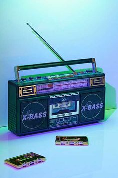 Shop Radio + Cassette + Boombox at Urban Outfitters today. We carry all the latest styles, colors and brands for you to choose from right here. Radios, Boombox, Guzma Pokemon, Performance Artistique, Estilo Cholo, Radio Design, 80s Aesthetic, Cyberpunk Aesthetic, Aesthetic Photo