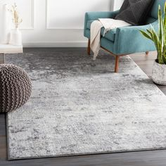 Bungalow Rose Rosson Abstract Silver/Gray/White Area Rug Rug Size: x Industrial Area Rugs, Modern Industrial, Silver Grey Rug, Gray, Grey And White Rug, Pink White, Beige, Polyester Rugs, White Charcoal