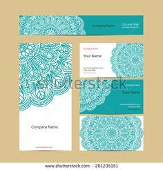 henna motif business card - Google Search