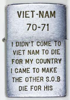 "(ZIPPO LIGHTERS) ""VIETNAM 70-71"""