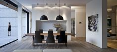 clean white space | black, wood detailing | pure dining || pitsou kedem architect