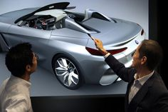 BMW Concept Z4 Design Process Virtual Design Review - from the gallery: Designers at Work: Virtual Reality  #bmw #virtualreality #cardesign #carbodydesign