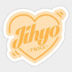 Twice Bias Jihyo - Twice Kpop - Sticker Pop Stickers, Printable Stickers, Logo Sticker, Sticker Design, Logo Twice, Overlays, Kpop Diy, Journaling, Jihyo Twice