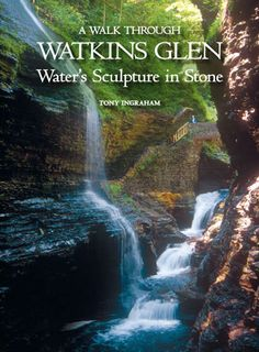 Walking through the Glen is an experience not to be missed:  from walking behind/under a waterfall, to the narrow cascades and to the creek's smaller, quieter falls.  The book whose jacket is pictured here, won the 2009 Media Award for the best small book from the National Association for Interpretation. A guide book will focus not only on the water, but the rock it travels through, the flora and fauna, the human history and stories, giving you a total experience. Find out about our book.