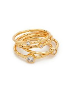 gorjana shimmer stacking ring set