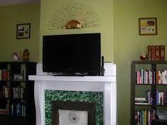 Image result for olive green living room