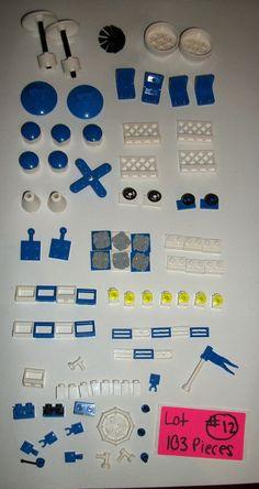 100 Piece LEGO Parts EMT Fire Rescue Blue Fence 3960 White 3185 30209 30033 4079 #LEGO