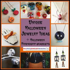 26 Unique Halloween Jewelry Ideas + 4 Halloween Friendship Bracelet Patterns