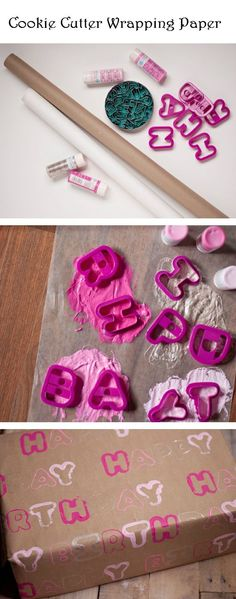 Cookie Cutter Wrapping Paper - DIY Ideas 4 Home