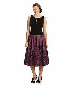 SL Fashions Beaded Keyhole Dress #Dillards