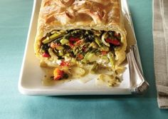 "Vegetables Wellington Redux Recipe | Vegetarian Times note from reviewer: ""Instead of tomato sauce, I roast cherry tomatoes with a little bit of olive oil, brown sugar, balsamic vinegar and oregano until they are reduced (40 min) I put that on the plate before the wellington. It is absolutely fabulous"""