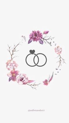 Instagram Logo, Story Instagram, Instagram Wedding, Wedding Logo Design, Wedding Logos, Wedding Cards, Wedding Invitations, Flower Wallpaper, Iphone Wallpaper