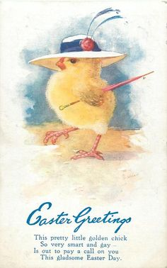 i had a pink chick in a bread box.i loved it to death Easter Lamb, Hoppy Easter, Easter Eggs, Vintage Cards, Vintage Postcards, Vintage Images, Vintage Pictures, Holiday Postcards, Holiday Cards