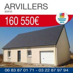 Pavillon avec garage à ARVILLERS (80910) pour 160 550€ TTC*  Nos offres maison + terrain | Résidences Picardes