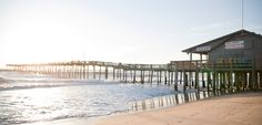 """Nags Head Fishing Pier - Fish all day or all night out on the pier, and the pier restaurant even offers a """"You Hook 'Em, We Cook 'Em"""" deal!"""