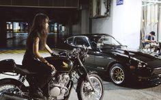 Honda bike / Datsun car //