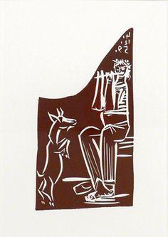 Flûtiste et Chèvre savante (Bloch - a Picasso Linocut at the New York art gallery of John Szoke Pablo Picasso, Picasso Art, Picasso Prints, York Art Gallery, Classical Realism, Art Thou, New York Art, Western Art, Art For Sale