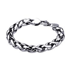 Polished Stainless Steel Rope Link Bracelet - Strong and Sturdy - http://lily316.com.au/shop/bracelets-mens-stainless-steel/large-rope-link-polished-stainless-steel-bracelet/