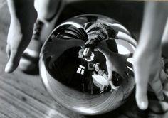 Annemarie Heinrich - Self-portrait in mirror-ball with sister Ursula, 1938 Selfies, Mirror Ball, American Ballet Theatre, Chiaroscuro, Paris Photos, Ursula, Portrait Photographers, Portraits, Beautiful World