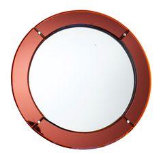 1stdibs   Art Deco Red Mirror