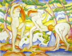 Bathing Girls - Franz Marc