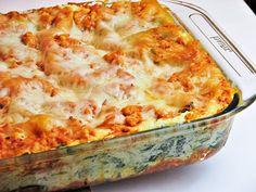 Skinny lasagna with ground turkey Skinny Recipes, Clean Recipes, Healthy Recipes, Yummy Recipes, Recipies, Clean Meals, Skinny Meals, Vegetarian Recipes, Healthy Cooking