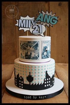 Comic book cake  Iced by Kez
