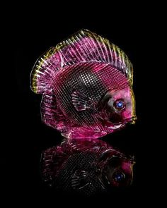 A Watermelon Tourmaline Fish Carving, Gerd Dreher,, , making full use of the original outline of the rough crystal, this finely - Price Estimate: $1500 - $2500